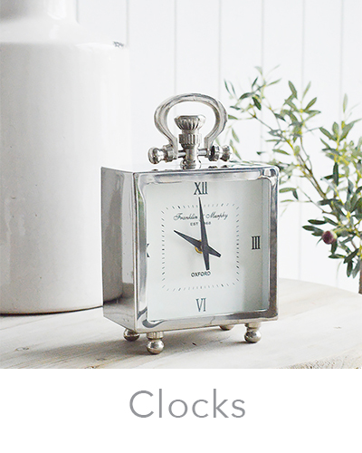 New England style mantel clocks