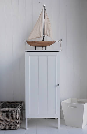 White Freestanding Bathroom Cabinet With Storage Shelf Bathroom Furniture