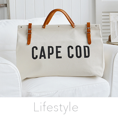 Get the laid back lifestyle of the New England style with our range of bags, scarves, jewellery and more from The White Lighthouse Furniture