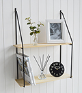Boston Bohemian Industiral wall shelf with 2 shelves