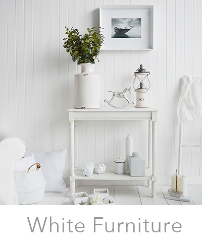 All white furniture and home decor accessories