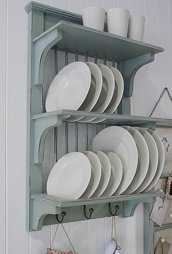 Blue kitchen plate rack from the white lighthouse