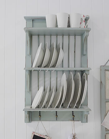 Kitchen Plate Rack & Blue Kitchen Plate Rack from The White Lighthouse
