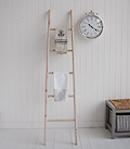 Tea towel ladder for hanging in kitchen