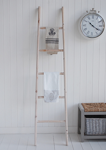 Towel ladder for hand and tea towels in kitchen