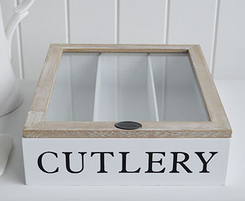 Cuterly box for white kitchen
