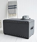 Berkeley Grey trunk for window seat- living room furniture storage