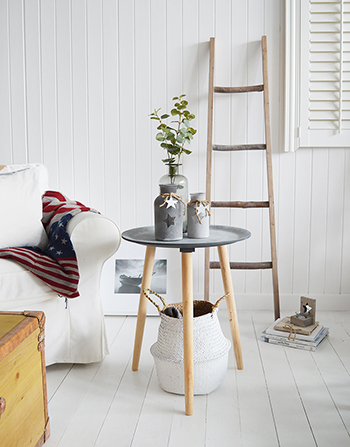 New England Coastal Furniture from The White Lighthouse, Boston Bohemian Side table