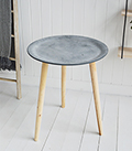 Boston Bohemian tripod slate lamp side  table for scandinavian and New England bedroom and living room furniture from The White Lighthouse