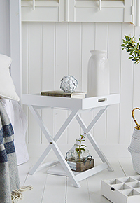 Connecticut white tray table
