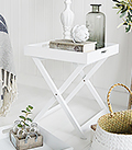 Connecticut white tray table for coastal and New England Interior Furniture