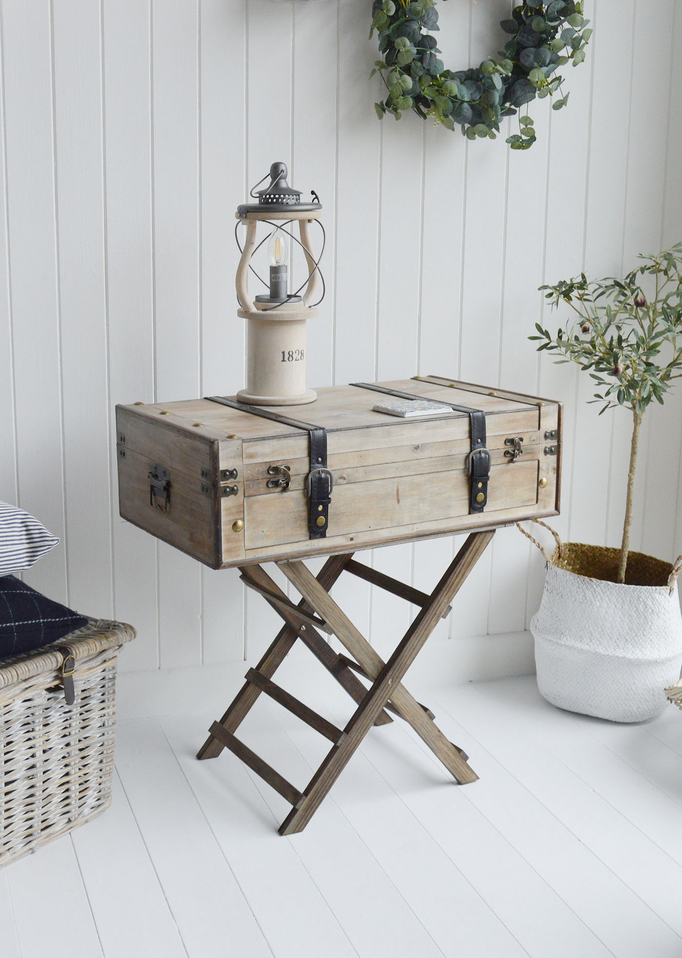 Keep yout hallway clutter free with white console hall table with drawers