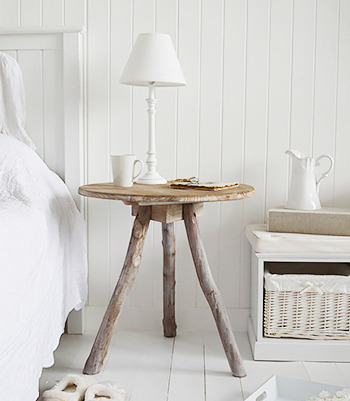 Driftwood Grey Tripod Side Table