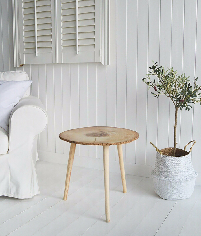 Hartford scandi nordic style side lamp table for living room furniture. The White Lighthouse Country, Scandi, White, Coastal and New England Furniture, Home Interiors and Lifestyle