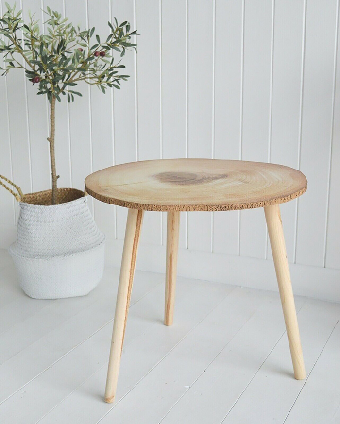 Hartford scandi nordic style side lamp table