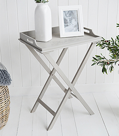The Harvard folding tray table is a delightful addition to any room in your home. Ideal for all country, town, coastal and New England styled home interiors. Ideal bedside table in bedroom or side table in living room furniture
