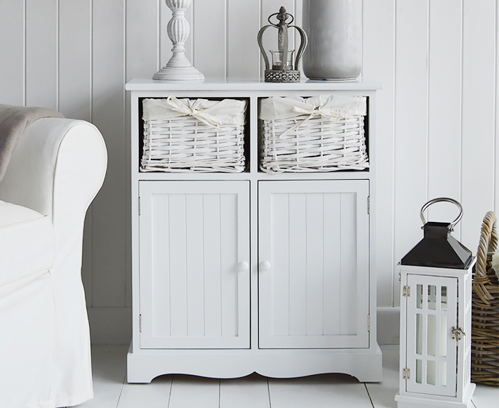 Maine white sideboard, living room furniture from The White Lighthouse