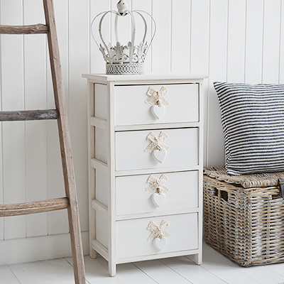Newington Chest of drawers for New England white furniture for the hallway, living room and bedroom