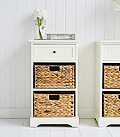 Padsto cream lanp table with storage drawers