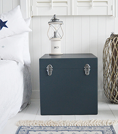 Newbury New England trunk bedside table