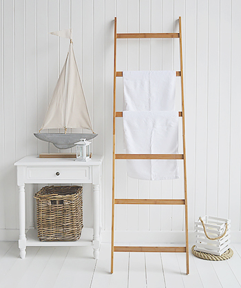 Bamboo towel ladder