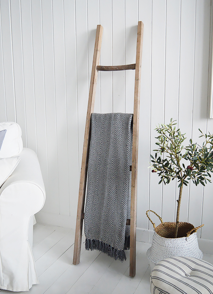 The White Lighthouse New England Country and Coastal Furniture - Decorative towel ladder
