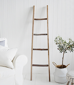 The White Lighthouse New England Country and Coastal Furniture - Decorative Blanket ladder