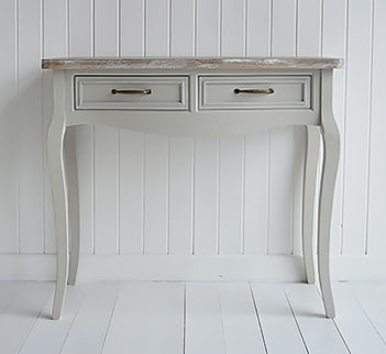 Bridgeport grey vanity table for coastal bedroom furniture