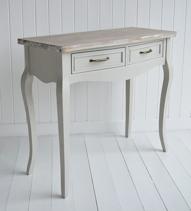 Bridgeport grey dressing table for country and coastal bedroom interiors