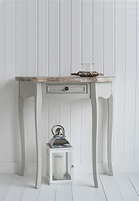Bridgeport small half moon console table