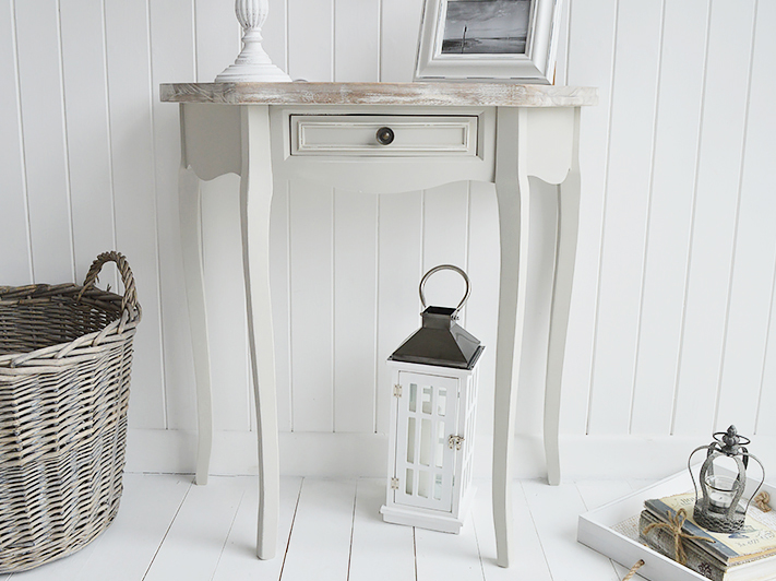 Bridgeport Grey Half Moon Console Table Living Hall And