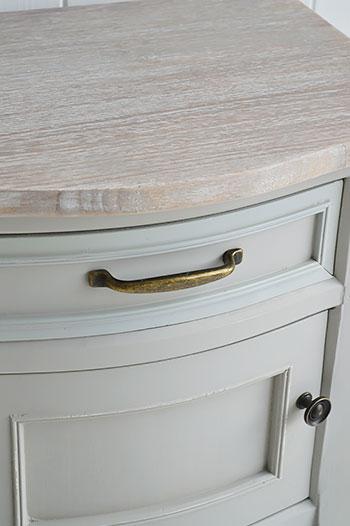 Grey living room lamp table for coastal interior design