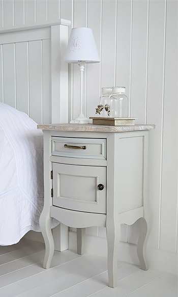 Bridgeport Grey Lamp Table With Cupboard Living Room