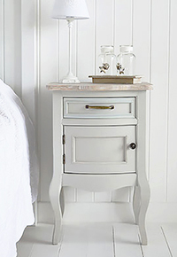 Bridgeport grey bedside table
