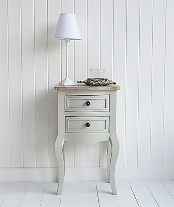 Bridgeport grey lamp table