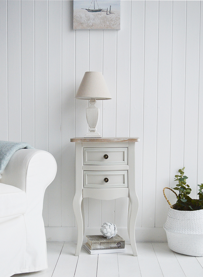 Don't overcrowd the coastal home, if you are tight of space used smaller furniture pieces with lots of extra storage.