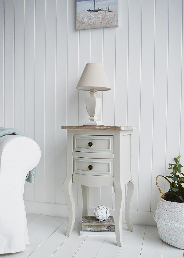 Light Grey Bedside Table: Living Room, Hall And Bedroom