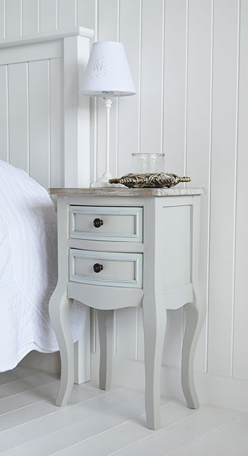 grey bedside table. Ideas for decorating your bedroom with grey furniture
