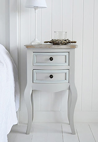 Brunswick grey bedside table with drawers