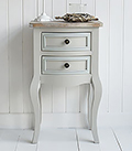 Bridgeport grey lamp table with drawers for living room furniture