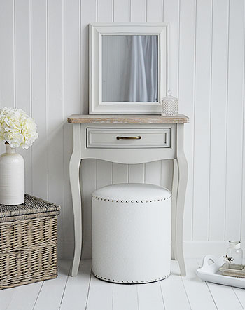 Bridgeport small grey dressing table