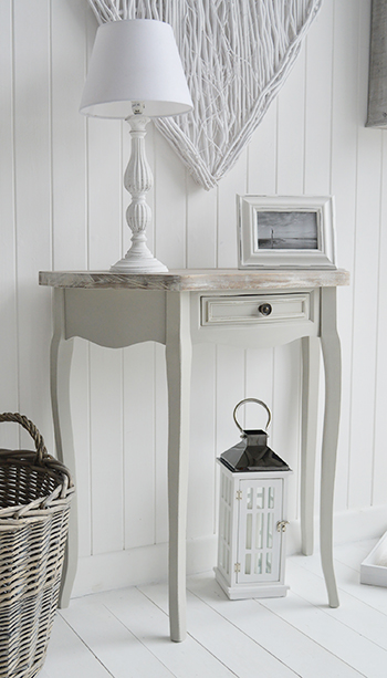bridgeport grey  moon console table living hall