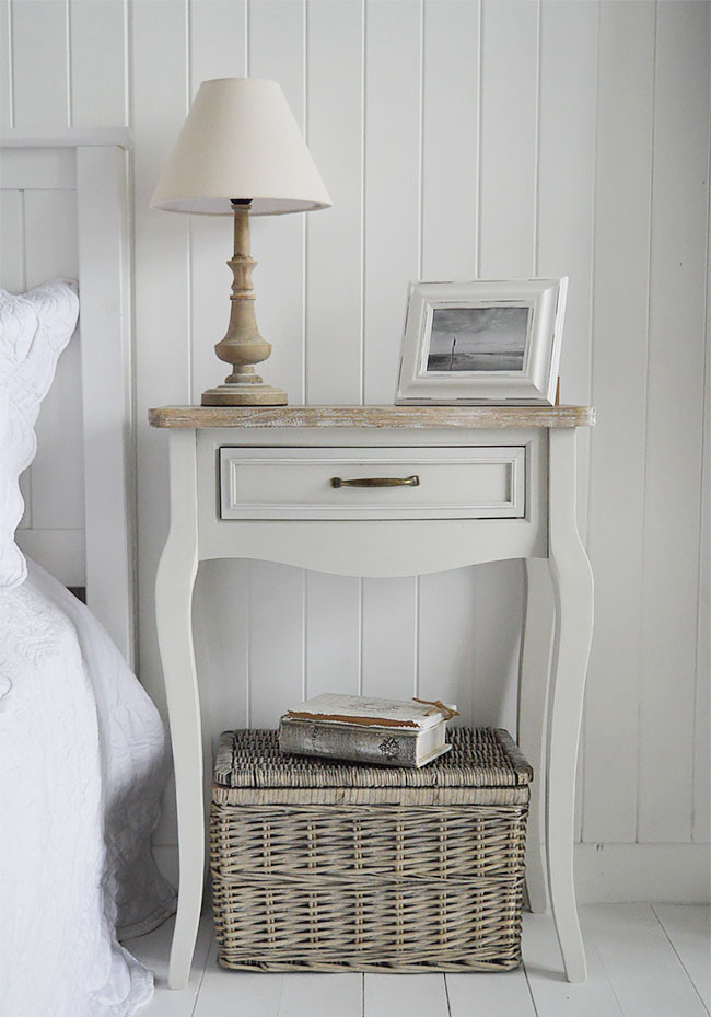 Large bridgeport grey bedside table