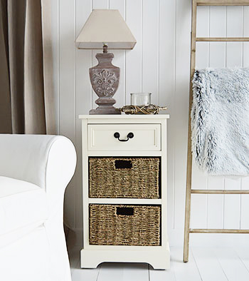 Cambridge Cream lamp table with drawers
