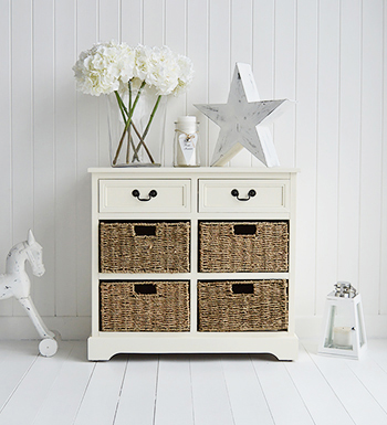 Cambridge Cream Sideboard with 6 drawers in hall storage furniture