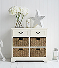 Cambridge Cream sideboard with baskets and drawers for storage