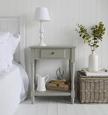 Charleston grey large bedside table