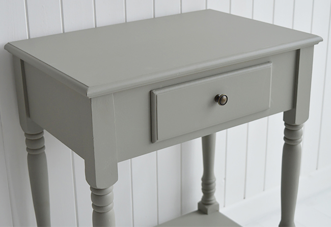 Charleston grey console table with drawer