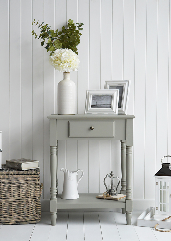 Charleston Grey small Console table for small hall furniture