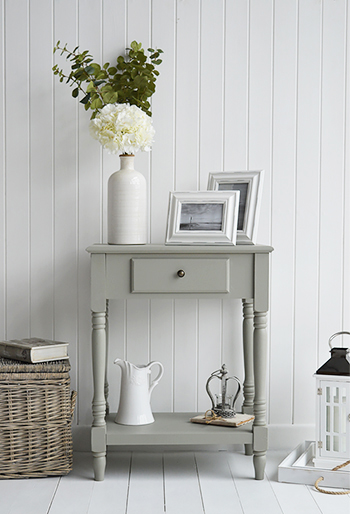 Charleston grey table lamp small console sofa hall living room table ebay - White hall table uk ...